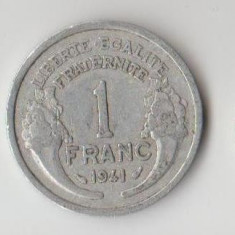 Moneda 1 franc 1941 - Franta, Europa