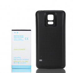 Baterie extinsa 7000 mah + capac negru dedicat Samsung Galaxy S5 G900 i9600, Li-ion