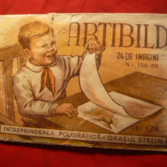 Ambalaj -Abtibild -Intr.Poligrafica oras Stalin- Brasov 1959 - Cartonas de colectie