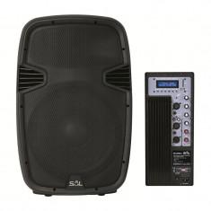 Boxa activa 4 in 1 pentru orchestra, 400 W, 8 ohmi, player MP3 cu afisaj LCD, Sal