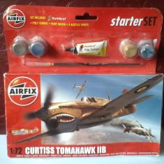 Bnk jc Avion - macheta - Curtiss Tomahawk IIB - Airfix - 1/72 - Macheta Aeromodel