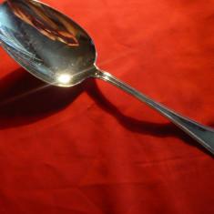 Lingura de servit, metal placat cu argint, L= 28, 5 cm