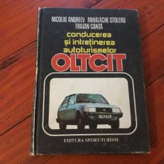 Carte - Conducerea și întreținerea autoturismelor Oltcit anul 1985 / 182 pag !