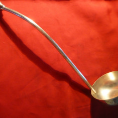 Polonic vechi din metal argintat-Art-Deco, L= 31 cm