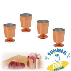 [ Promo ] Set 4x Cupe Inghetata, Desert No.3, Cupru - Gazon natural
