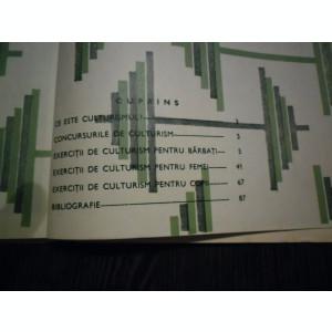 CULTURISM * Programe - Lazar Baroga - Editura Stadion, 1970, 86 p.