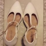 Pantofi piele Lazzarini incaltaminte sandale dama masura 36 +CADOU!, Cu toc