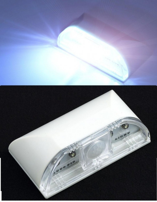 Lampa veghe senzor lumina si miscare PIR 4 LED crepuscular camera copilului