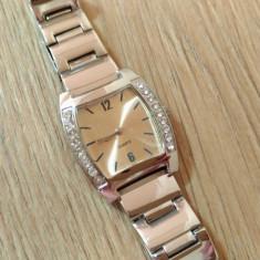 Ceas de mana Dama Femeie - model trendy pietre margini elegant otel inoxidabil