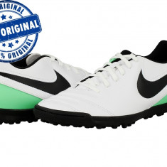 Pantofi sport Nike Tiempo Rio 3 pentru barbati - adidasi originali fotbal - Ghete fotbal Nike, Marime: 44, Culoare: Alb, Teren sintetic: 1