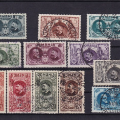 ROMANIA 1927 LP 76 SEMICENTENARUL INDEPENDENTEI SERIE STAMPILATA - Timbre Romania