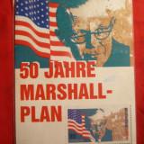 Ilustrata circulata Par Avion 1966- 50 Ani Planul Marshall, cu 40pf.Basme, Printata