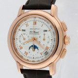 Superb ceas de mana Zenith El Primero Calendar /fazele Lunii /aur rose solid 18K