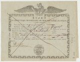 1847 document rarisim acvila Valahia marina document  de export portul Braila