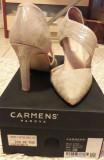 Cumpara ieftin Pantofi piele Carmens Padova incaltaminte sandale dama 38 +CADOU!