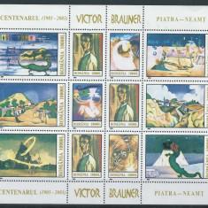 2003 Romania, LP 1613 - Centenarul Victor Brauner, (bloc de 12)-MNH - Timbre Romania, Nestampilat