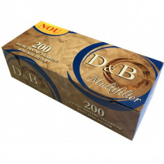 Tuburi tigari  D&B Multifilter ( Multifiltru carbune ) pentru inj. tutun 10x200