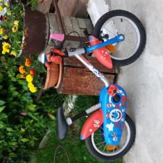 Bicicleta copii, 12 inch, 14 inch, Numar viteze: 1