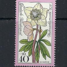 GERMANIA 1975 – FLORI DE CRACIUN, timbru nestampilat, R1