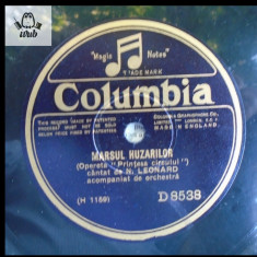 N. Leonard, disc patefon gramofon Columbia stare buna vezi foto! - Muzica Opera Columbia, Alte tipuri suport muzica