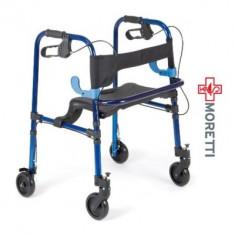 Cadru de mers cu roti mobile si scaun - Articole ortopedice