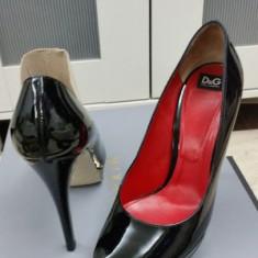 Pantofi tip platforma D&G - Sandale dama Dolce & Gabbana, Culoare: Negru, Marime: 39