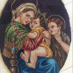 FECIOARA MARIA CU PRUNCUL IN BRATE GOBLEN MARE - Tapiterie Goblen