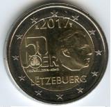 LUXEMBURG moneda 2 euro comemorativa 2017 - UNC, Europa, Cupru-Nichel