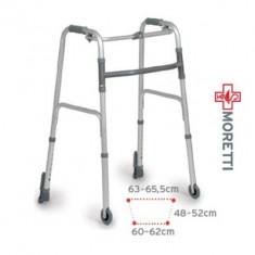 Cadru de mers pliabil spate fix cu autoblocare si roti - Articole ortopedice