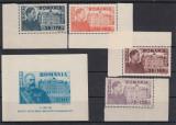 ROMANIA  1945 , LP 166 , LP 167 ,  FUNDATIA  CAROL SERIE SI COLITA  MNH, Nestampilat