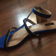 Sandale Zara - Sandale dama Zara, Culoare: Albastru, Marime: 38
