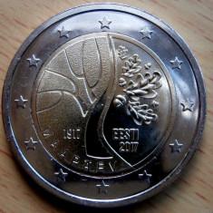 ESTONIA moneda 2 euro comemorativa 2017_Independenta, UNC