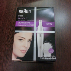 BRAUN FACE 810 Epilator facial+Perie cosmetica ten. NOU. SIGILAT. GARANTIE.