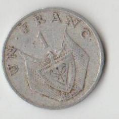 Moneda 1 franc 1974 - Rwanda, Europa