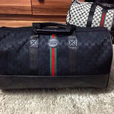Geanta de voiaj/sala/mana/umar/gym/travel bag Gucci Monogram Black 2017!!! - Geanta Barbati Gucci, Marime: One size, Culoare: Negru, Geanta de sold, Panza
