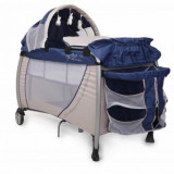 Pat pliabil Relax 120 x 60 cm Blue Cangaroo - Patut pliant bebelusi