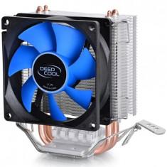 COOLER DEEPCOOL CPU, universal, soc LGA115x/775 & FMx/AMx/940/939/754, 2x heatpipe, 100W - Cooler PC