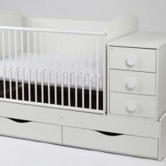 Patut Transformabil Silence Cu Leganare 3604 MyKids - Patut lemn pentru bebelusi