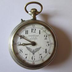 Rar!Ceas buzunar Roskopf-CRONOMETRUL CFR-editie limitata pentru CFR din anii 20 - Ceas de buzunar