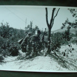 Foto militara ROMANIA Regalista WW2, soldati infanterie in atac pe front in URSS - Fotografie veche