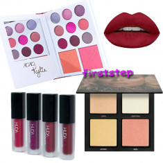 Set Trusa machiaj farduri Kylie's Diary Highlighter Huda Beauty 3D Rujuri mate - Trusa make up