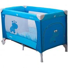 Patut pliabil Samba Albastru Coto Baby - Patut pliant bebelusi