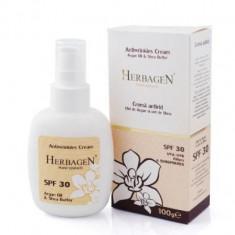 Crema antirid cu ulei de argan si unt de shea SPF30 100 gr Herbagen