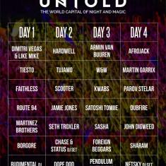 VAND ABONAMENT/BILET 4 DAY PASS UNTOLD 3-7 AUGUST - Bilet concert