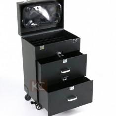 Troller geanta valiza machiaj makeup manichiuriste frizerie unghii gel cosmetice