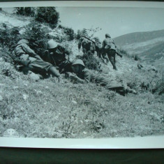 Foto militara ROMANIA Regalista WW2, vanatori de munte si infanteristi in URSS - Fotografie veche