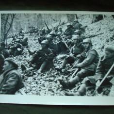 Foto militara ROMANIA WW2, soldati de infanterie si vanatori de munte in Rusia - Fotografie veche