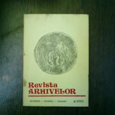 Revista arhivelor octombrie-noiembrie-decembrie 4/1992