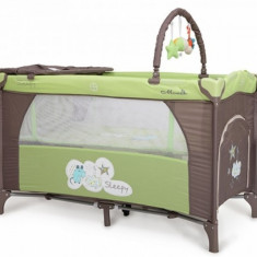 Patut Pliant Bebe 120 x 60 cm Sleepy Verde Moni - Patut pliant bebelusi