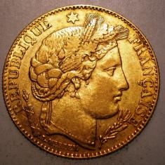 D.068 FRANTA 10 FRANCS FRANCI 1899 A AUR 0.900 3, 22g, Europa